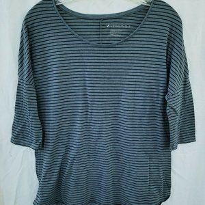 Soft & Sexy Jeggings T-Shirt Gray Stried